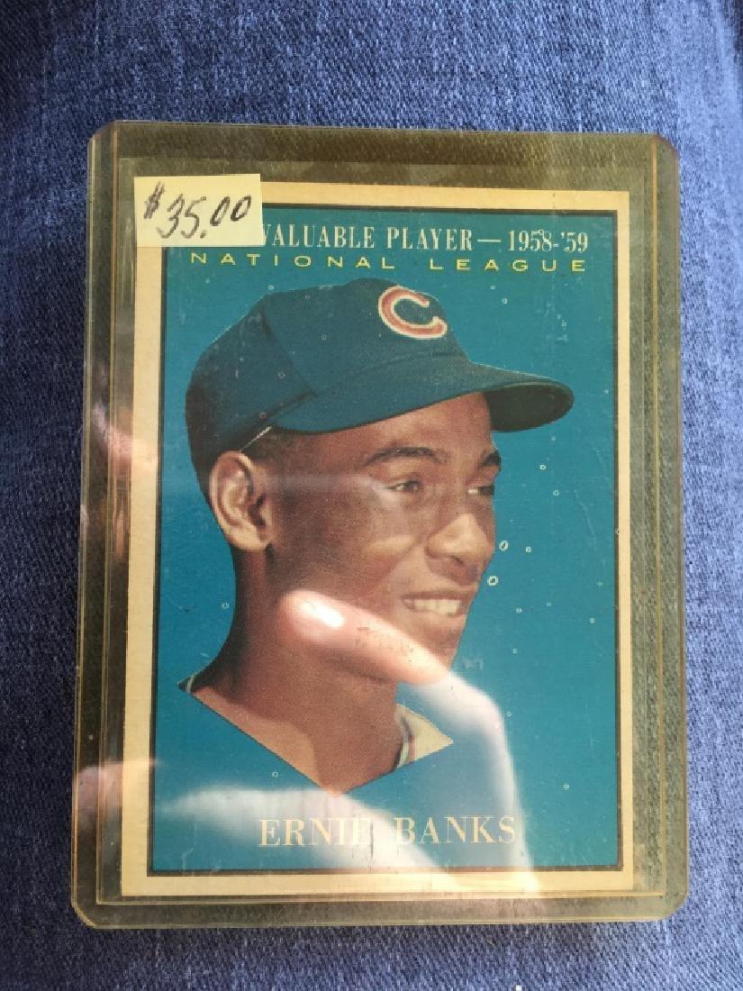 1961 TOPPS Baseball #485 ERNIE BANKS NL MVP 1958-9