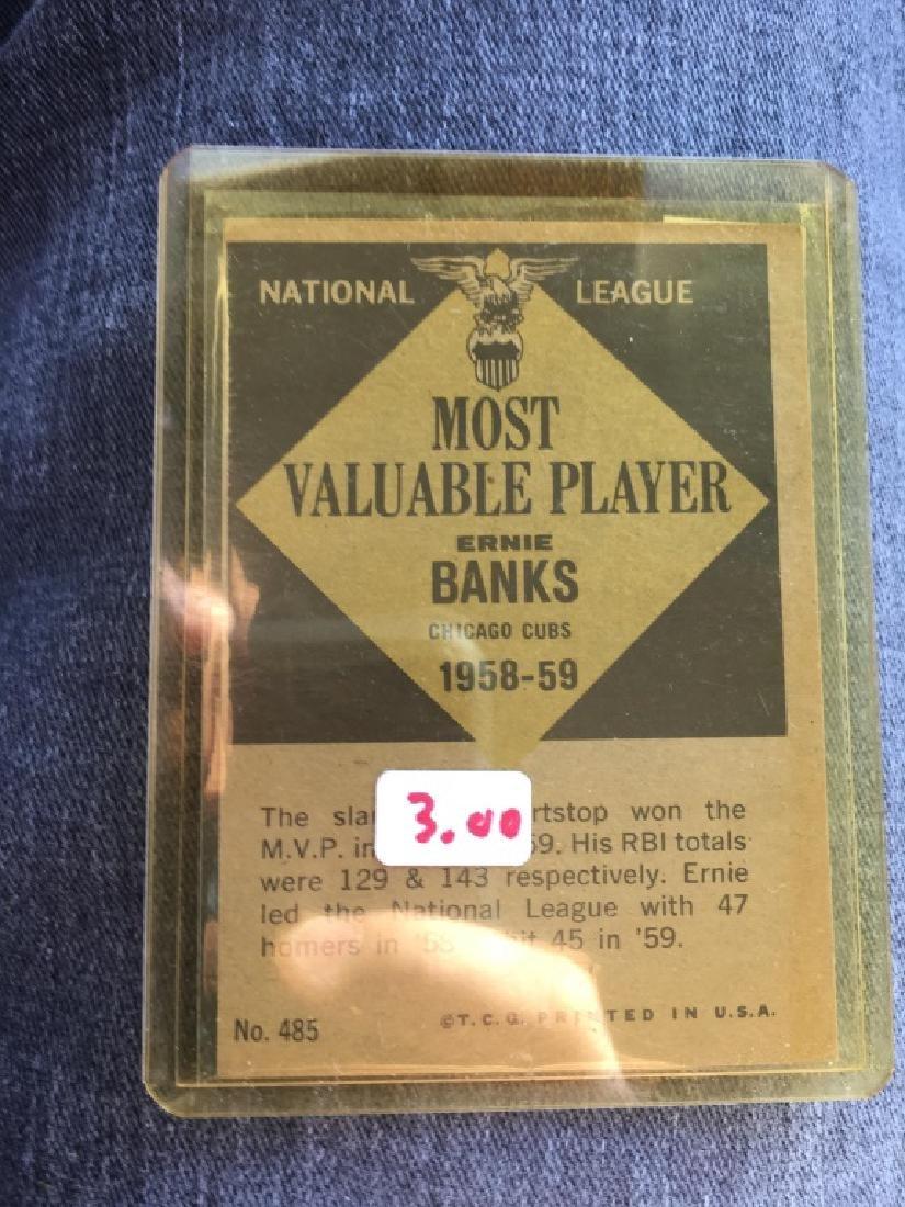 1961 TOPPS Baseball #485 ERNIE BANKS NL MVP 1958-9 - 2