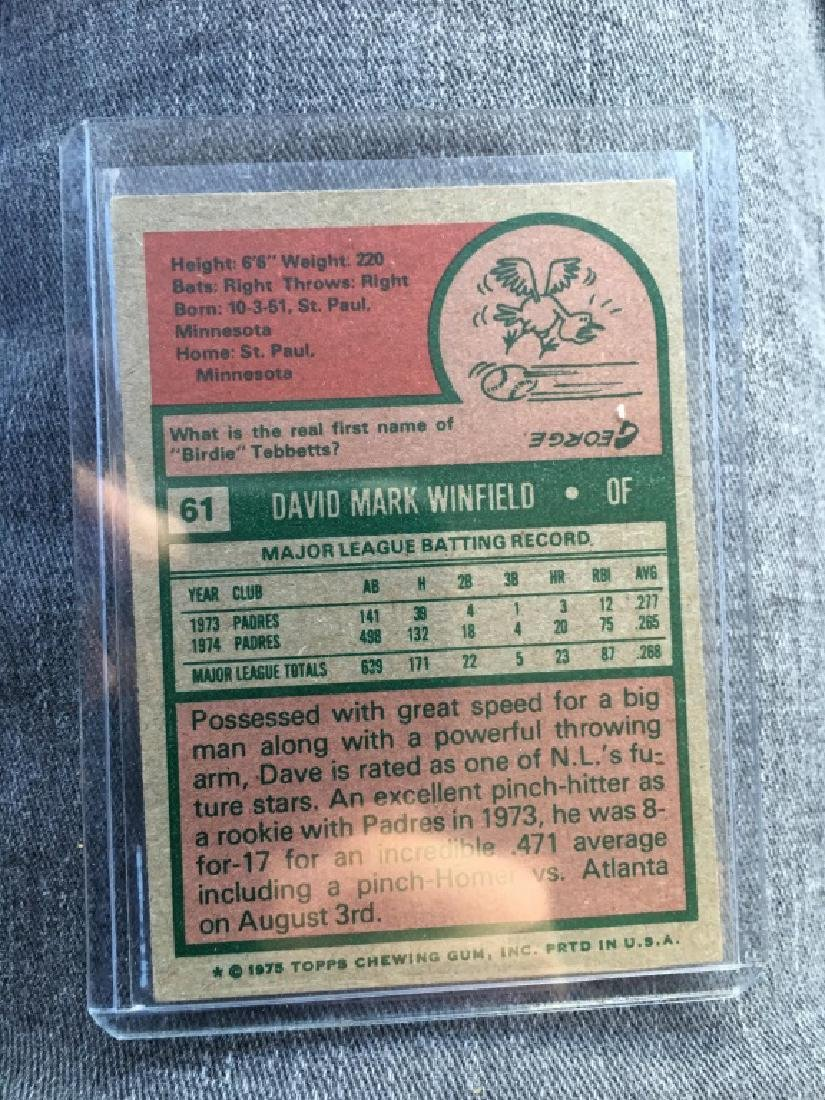 Dave Winfield 1975 Topps - 2