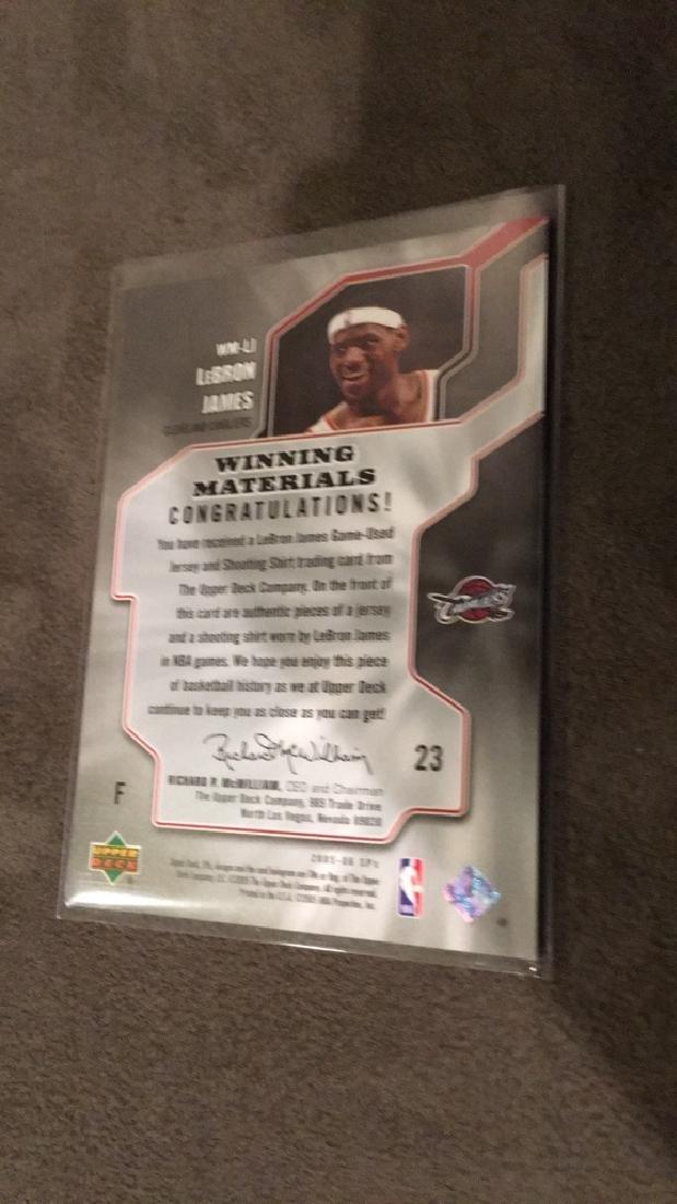 LeBron James 2005+IBM-06 SPX winning materials dual - 2