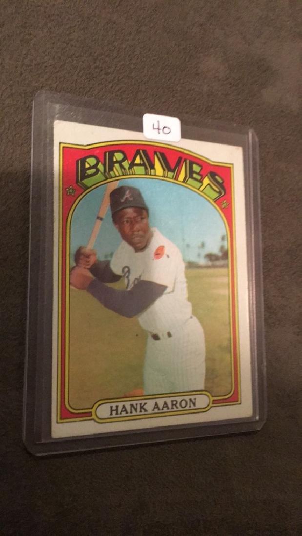 Hank Aaron 1972 topps vintage baseball card nice