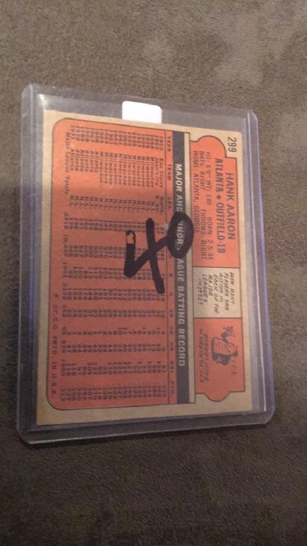Hank Aaron 1972 topps vintage baseball card nice - 2