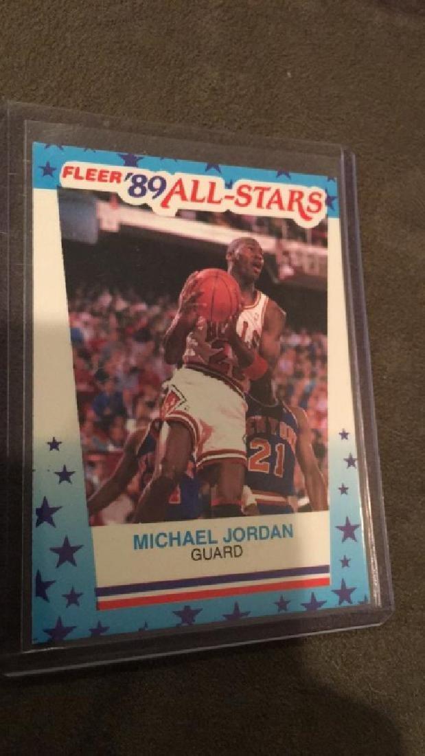 Michael Jordan fleer 1989 all star sticker