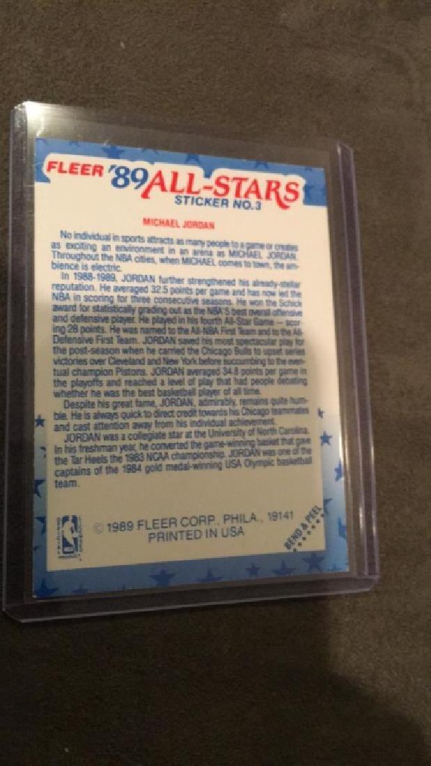 Michael Jordan fleer 1989 all star sticker - 2