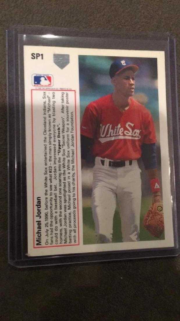 Michael Jordan 1991 upper deck SP1 baseball card - 2