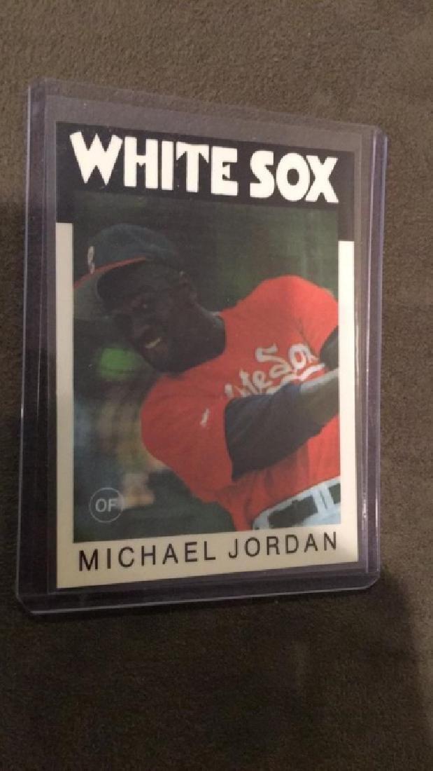Michael Jordan 1985 topps type baseball card