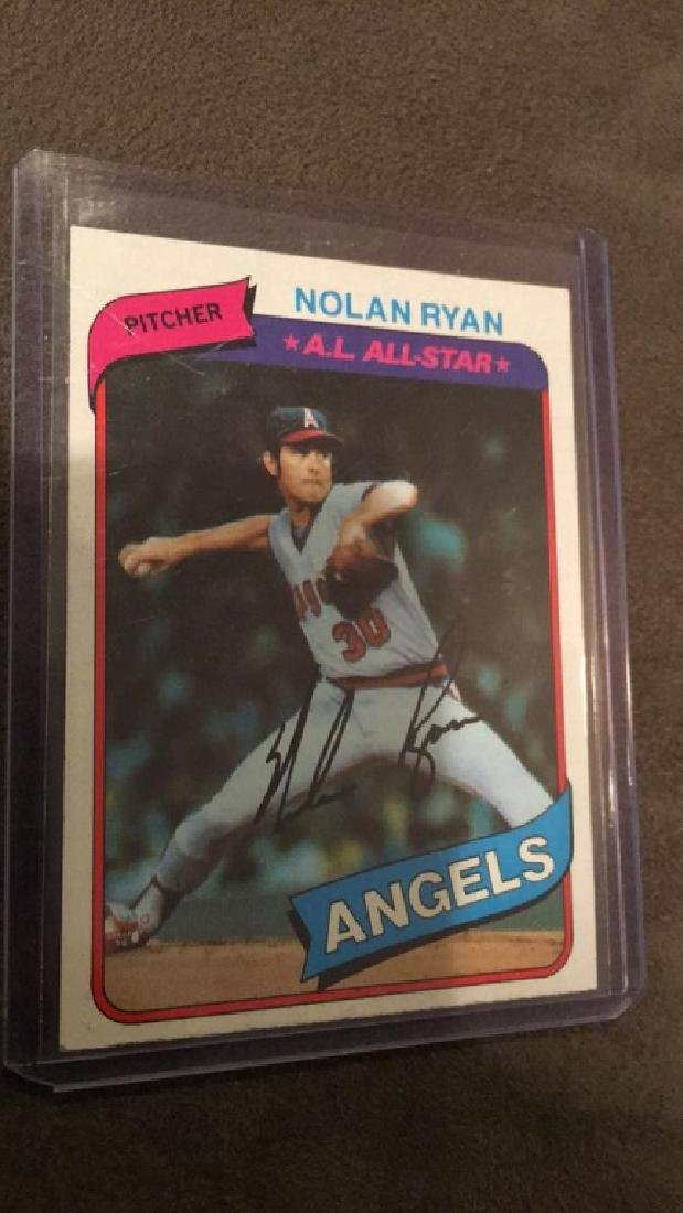 Nolan Ryan 1980 topps in mint condition