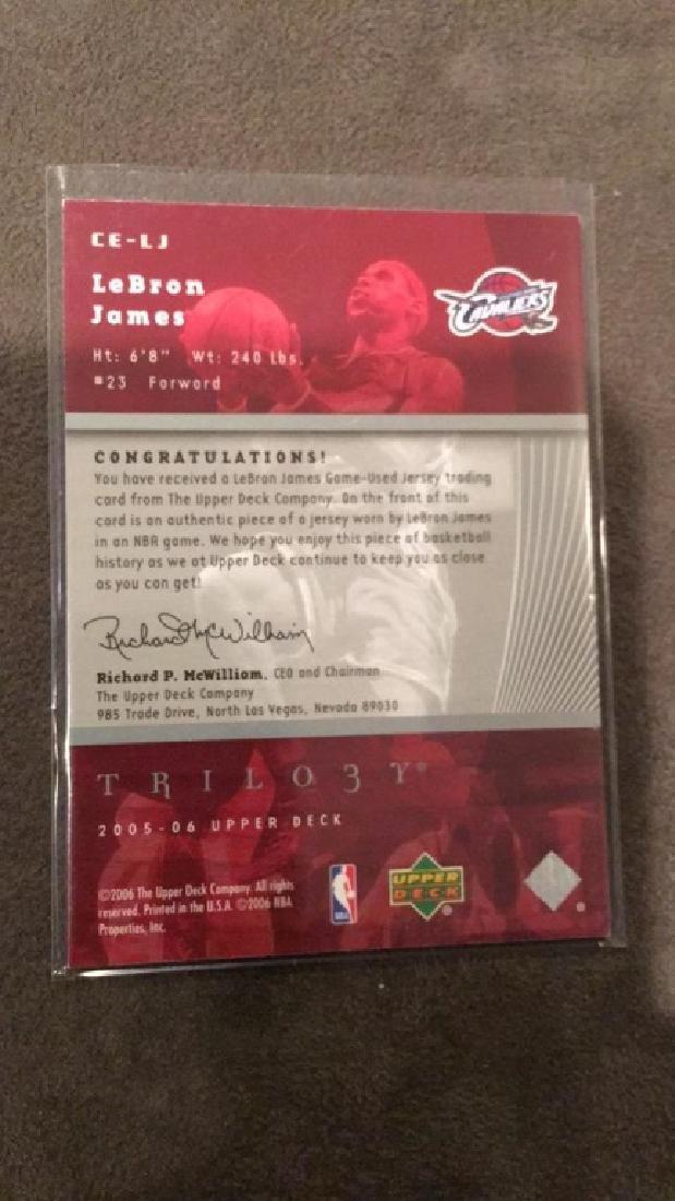 LeBron James 2005-06 upper deck trilogy the - 2