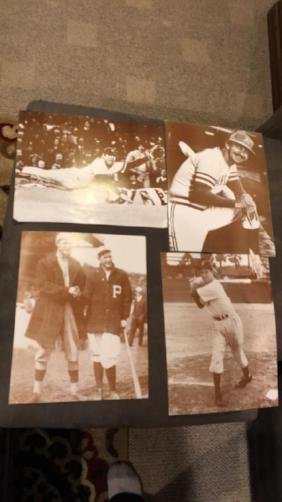 Lot of four vintage baseball photographs