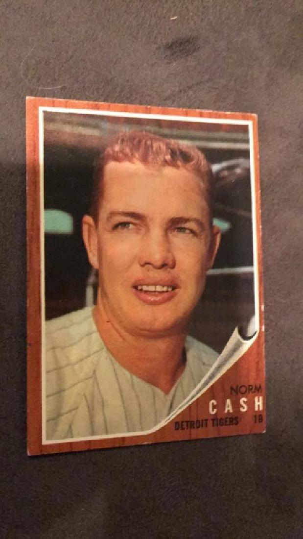 Norm cash 1962 tops vintage baseball card Detroit