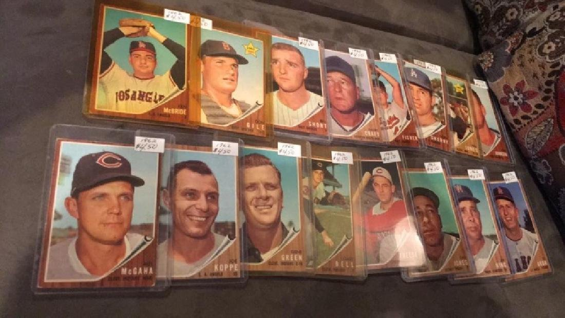 Lot of 1619 62 tops vintage baseball cards rookie - 2