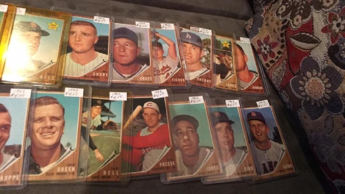 Lot of 1619 62 tops vintage baseball cards rookie - 3