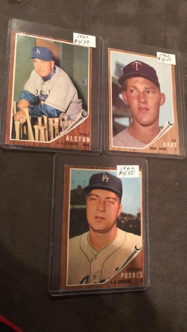 1962 tops vintage baseball card lot Johnny Padres - 2
