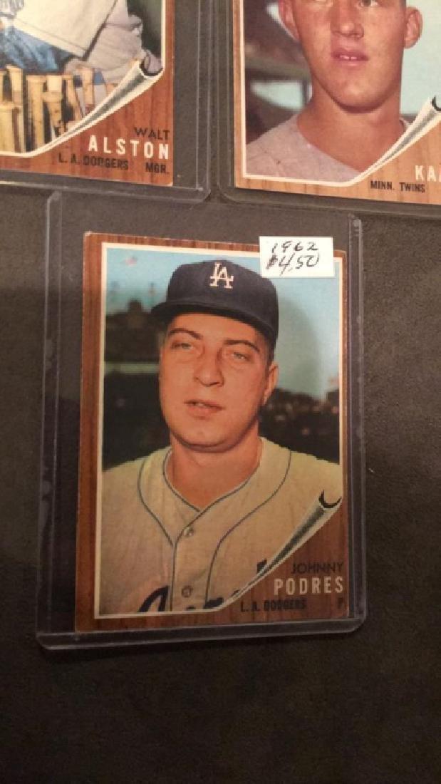 1962 tops vintage baseball card lot Johnny Padres - 3
