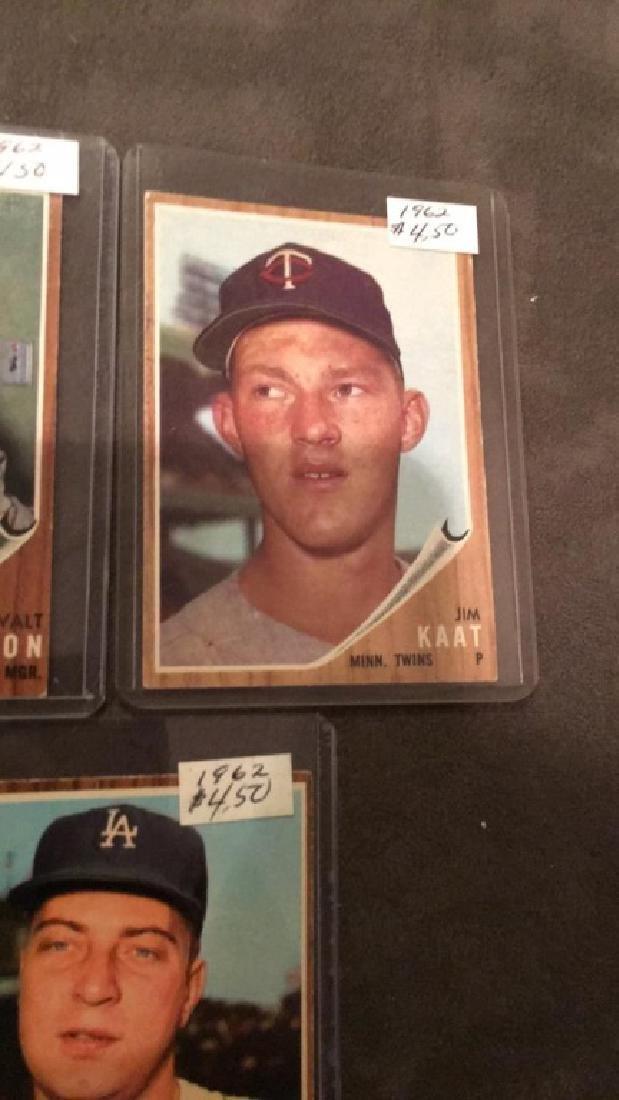 1962 tops vintage baseball card lot Johnny Padres - 4