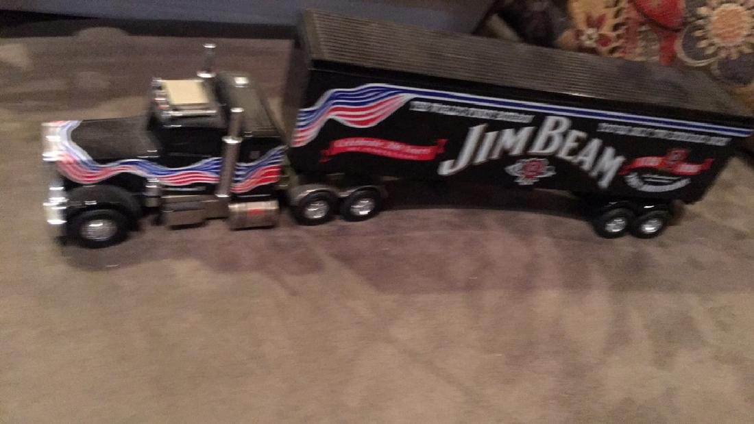 Jim Beam matchbox diecast metal tractor-trailer
