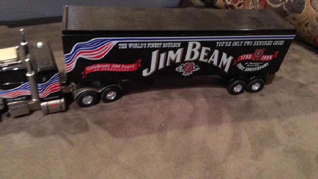 Jim Beam matchbox diecast metal tractor-trailer - 3