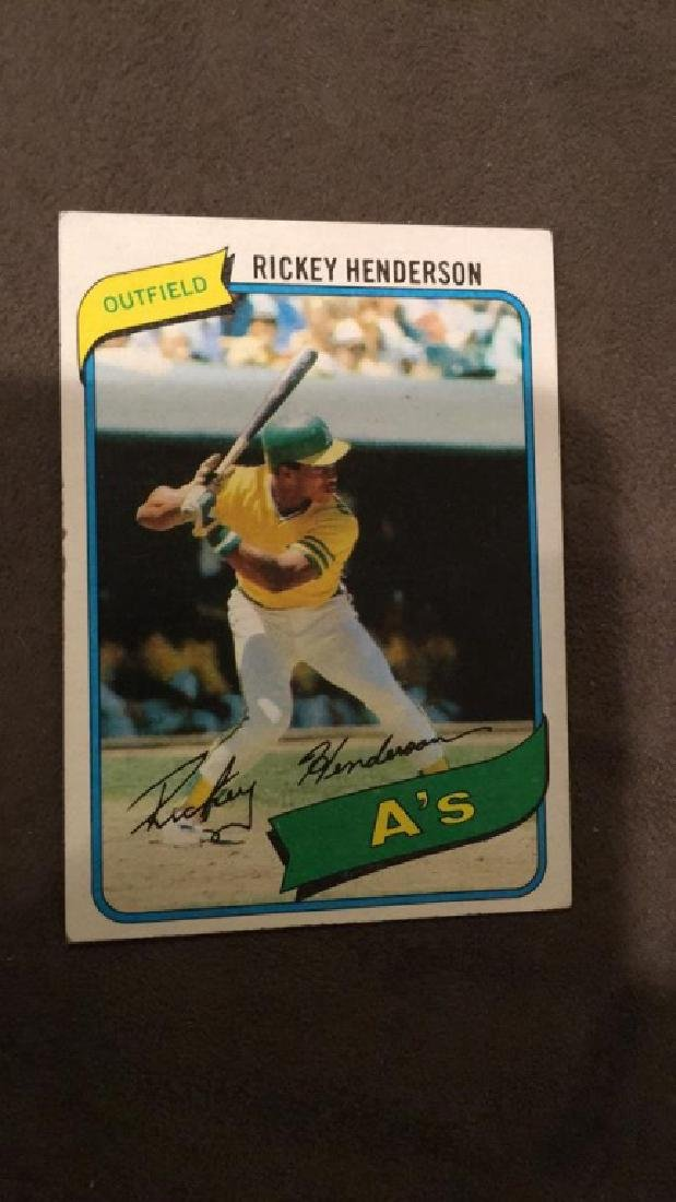 Ricky Henderson 1980 topps rookie card