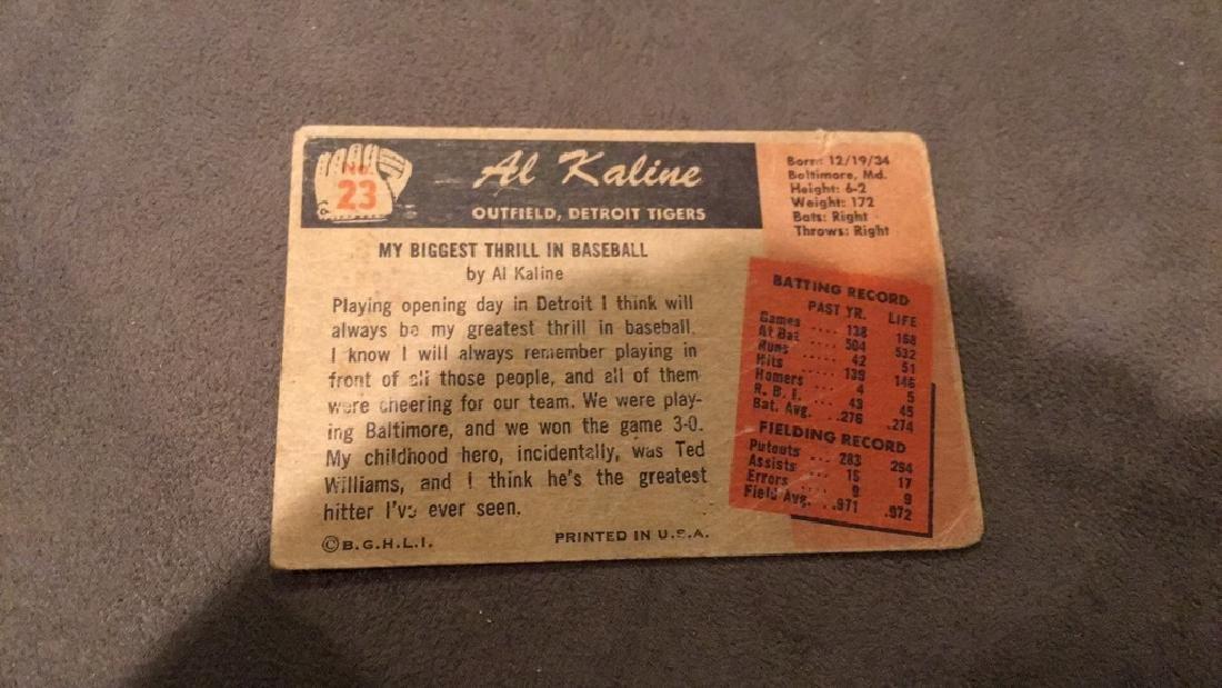 Al Kaline 1955 Bowman vintage baseball card - 2