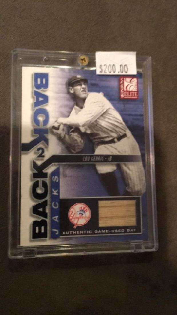 Lou Gehrig 2002 elite back to back jacks