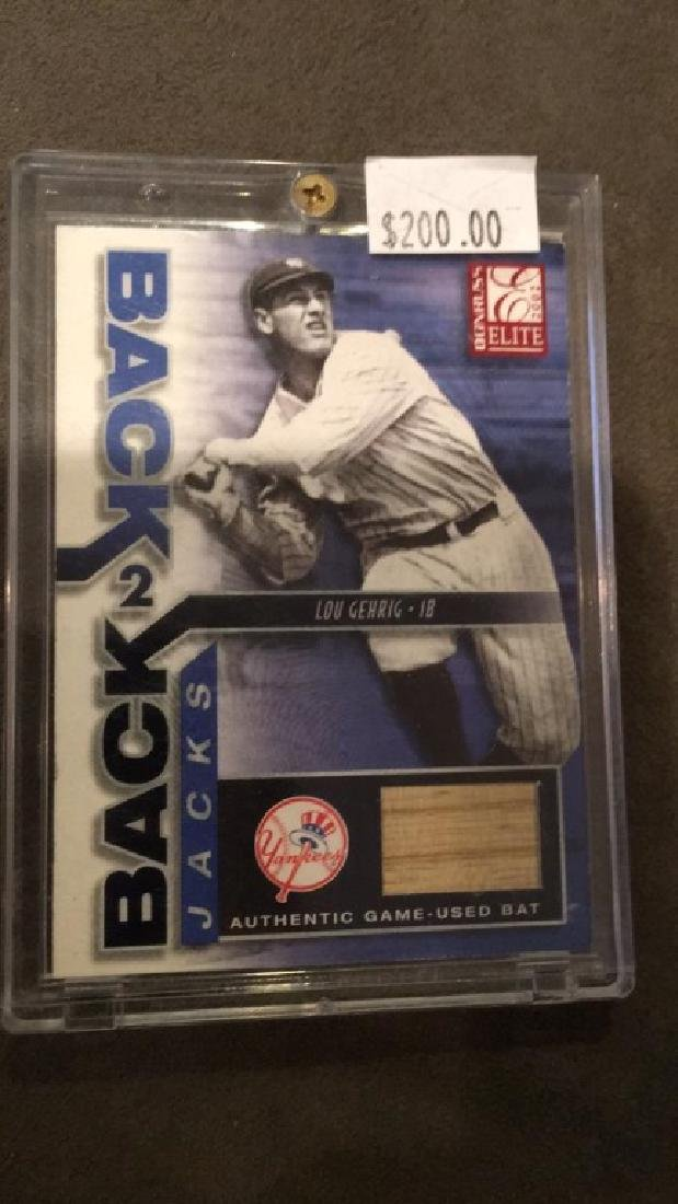 Lou Gehrig 2002 elite back to back jacks - 2