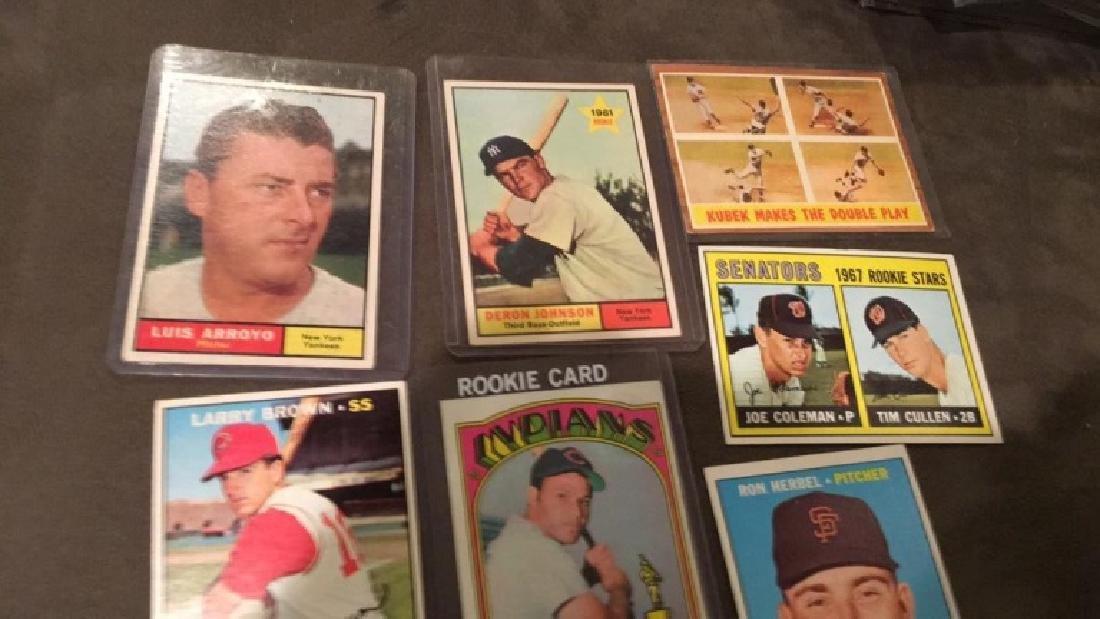Seven card vintage baseball lot Chris Chambliss - 3