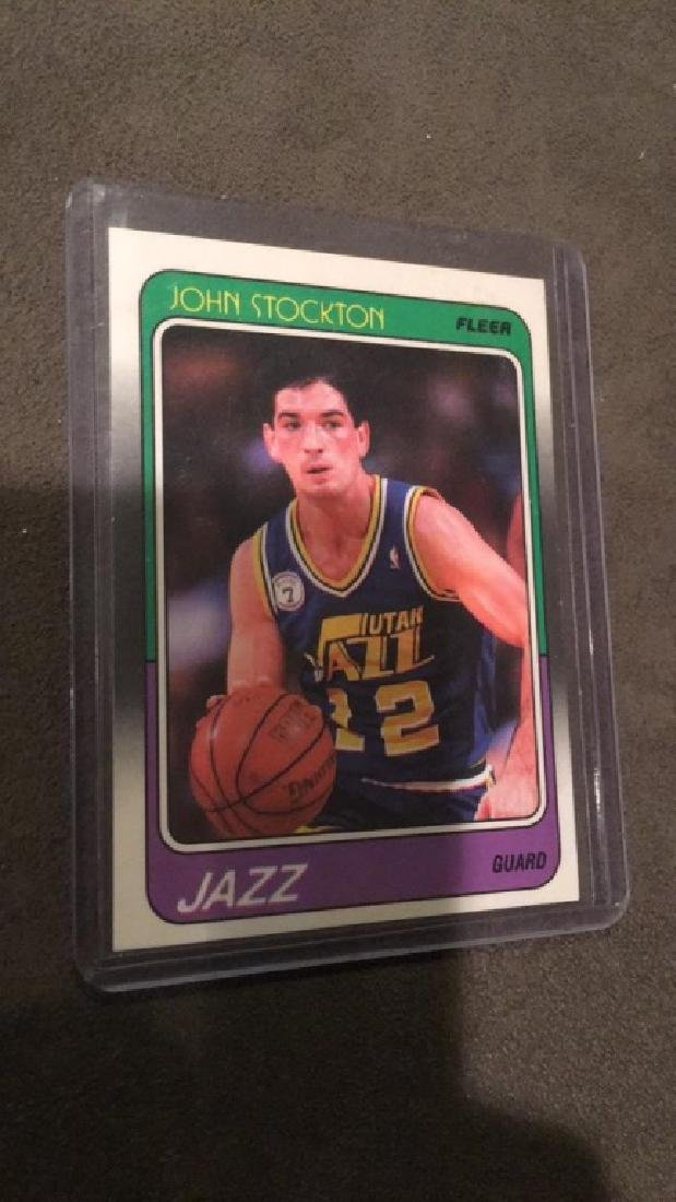 John Stockton 1988 89 fleer rookie