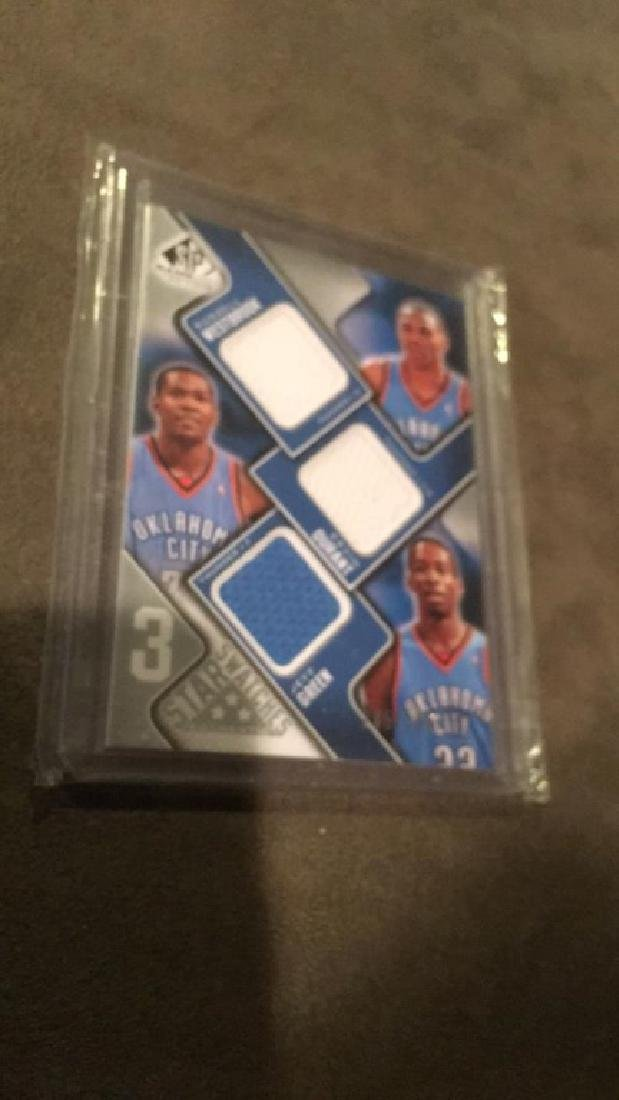 2009 10 SP game used three star swatches Durrant