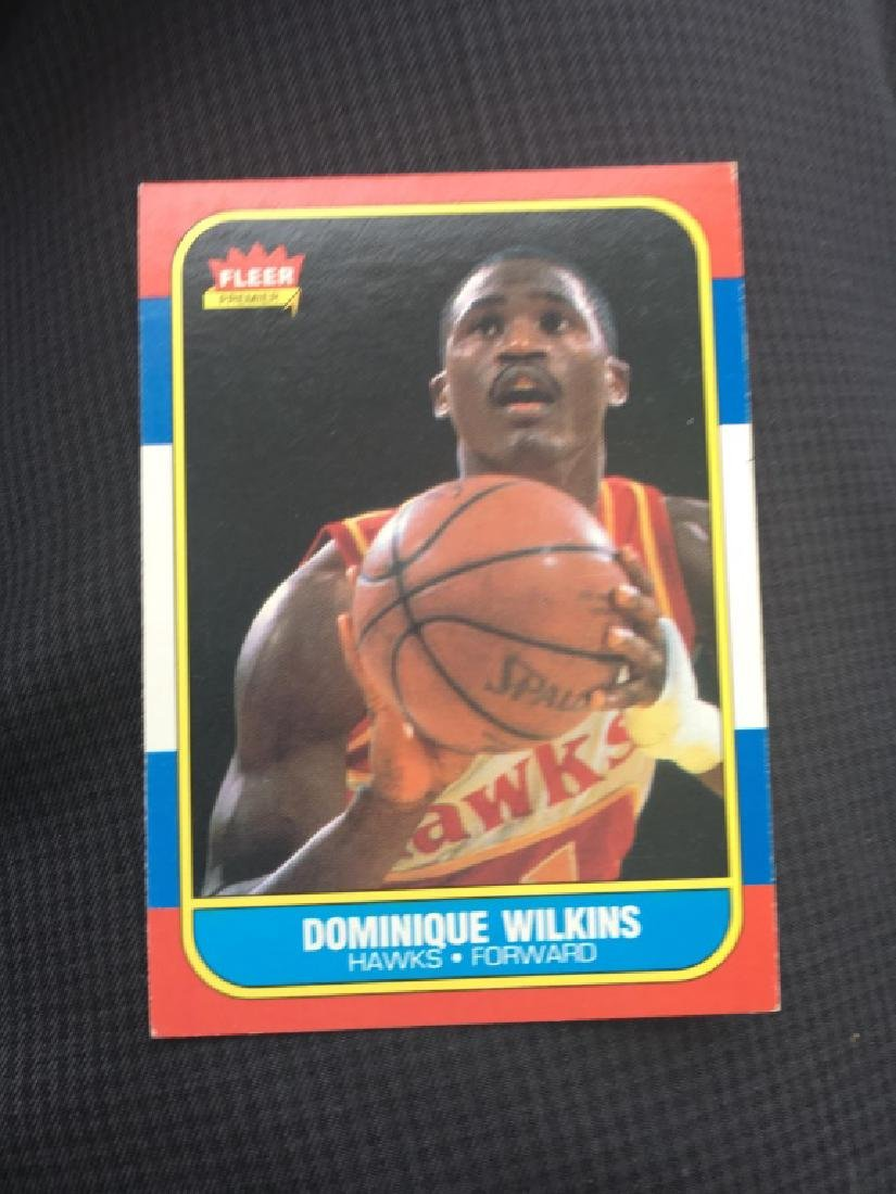 1986 FLEER BASKETBALL #121 DOMINIQUE WILKINS (RC)