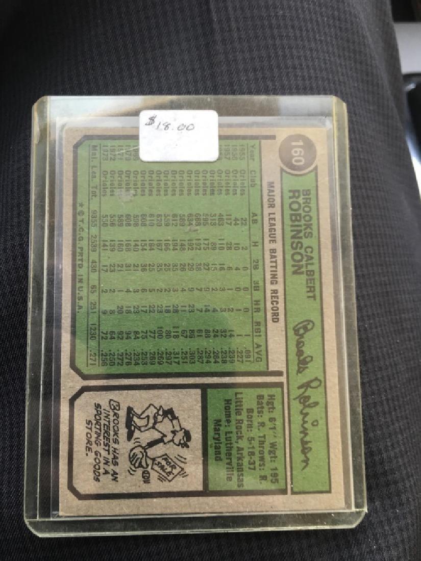 1974 Topps #160 Brooks Robinson Baltimore Oriolesd - 2