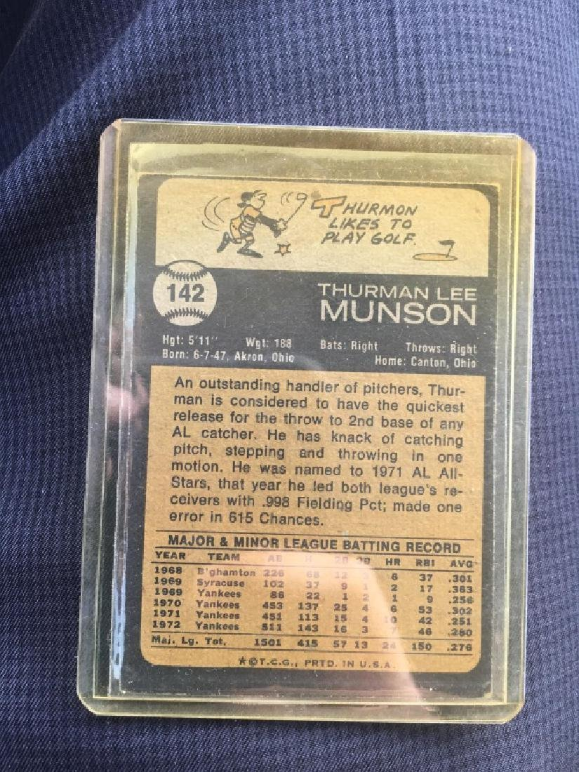 1973 Topps # 142 Thurman Munson - 2