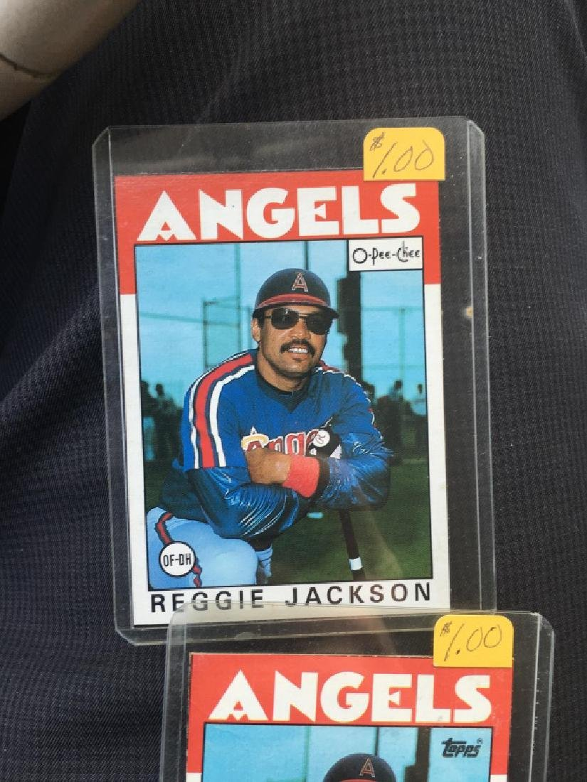 Reggie Jackson 1985 Topps and OPC lot - 2