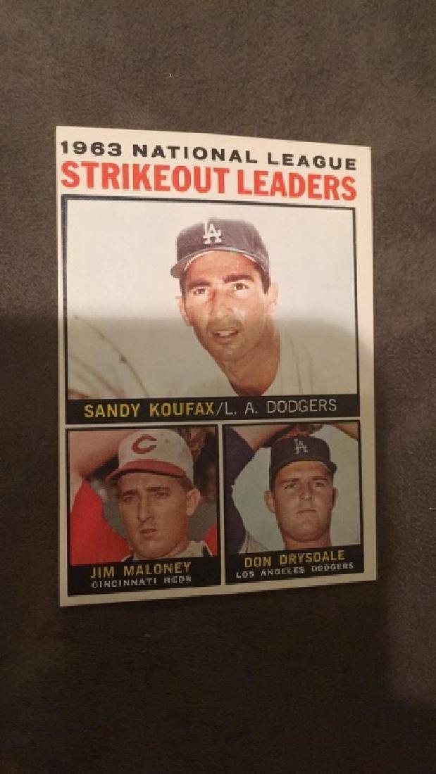1964 Tops Sandy Koufax strikeout leaders