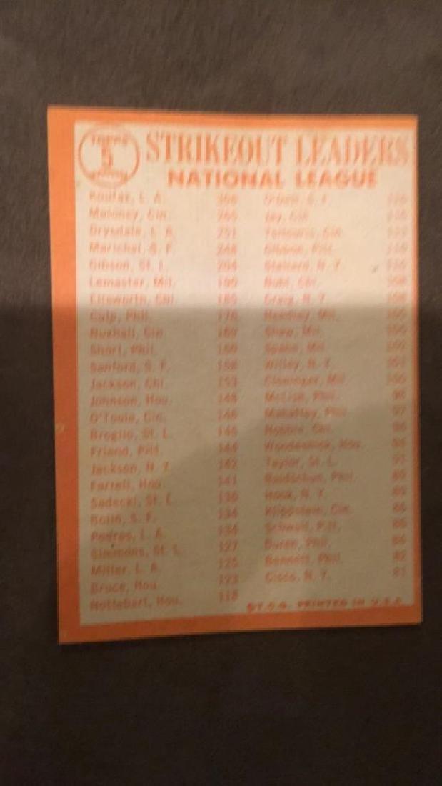 1964 Tops Sandy Koufax strikeout leaders - 2