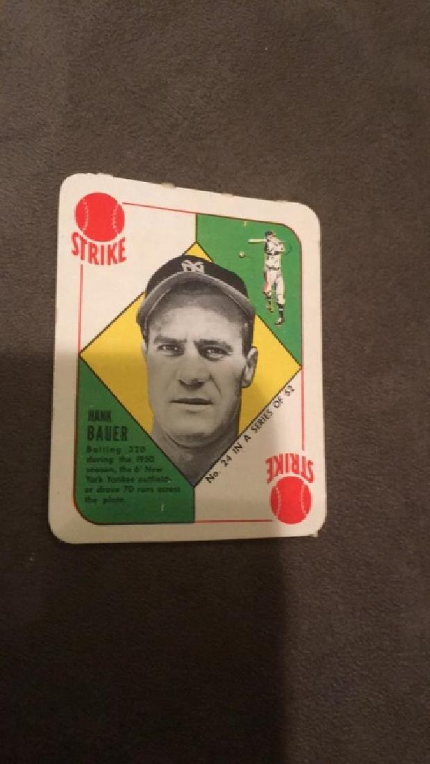 1951 tops Hank Bauer red back