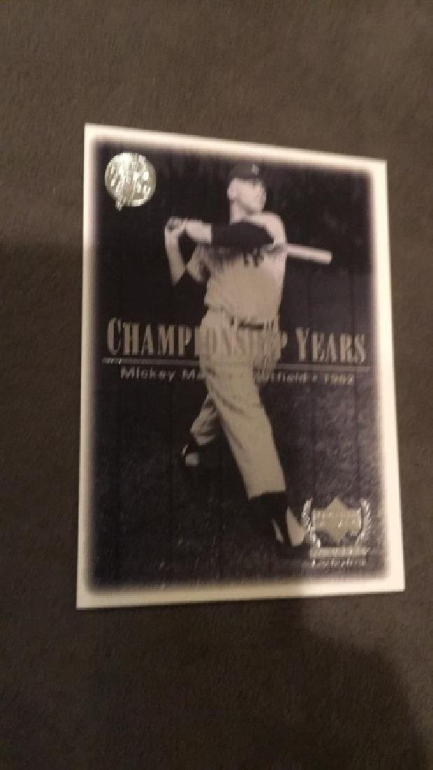 Mickey Mantle upper deck the championship years