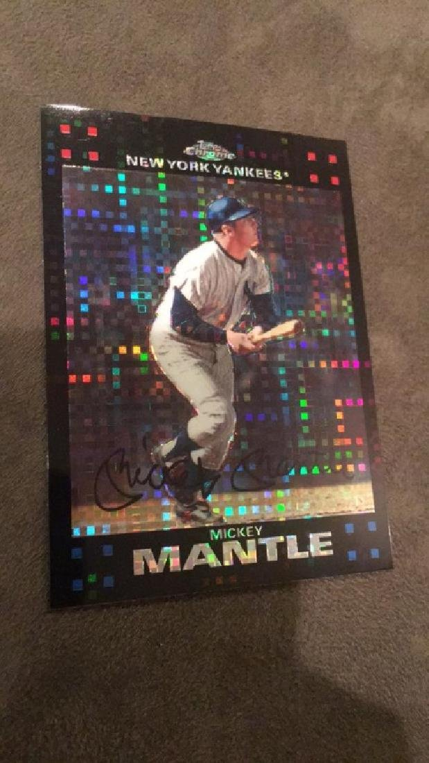 Mickey Mantle 2007 tops chrome xfractor  really
