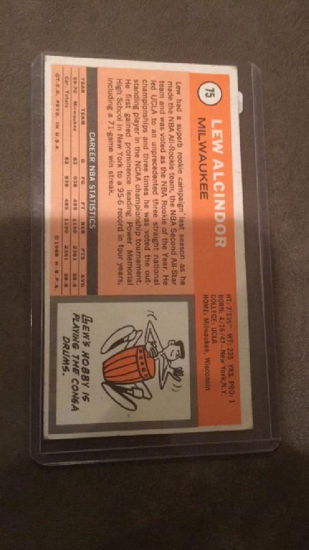 Lee Alcindor 1970-71 Topps card 2nd year nice - 3