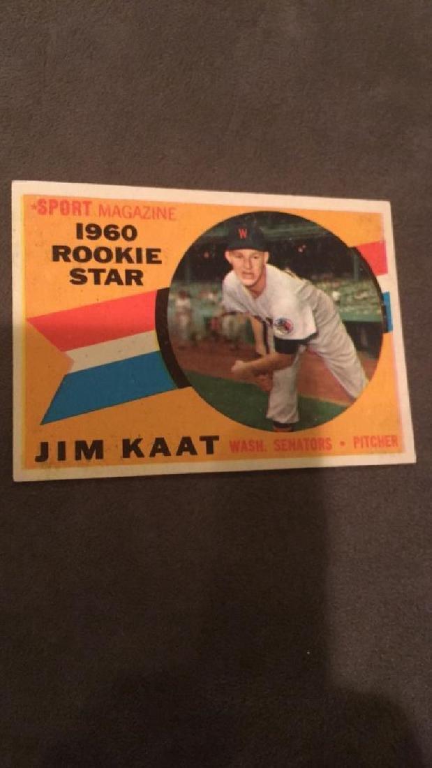 1960 Topps Jim Kaat RC