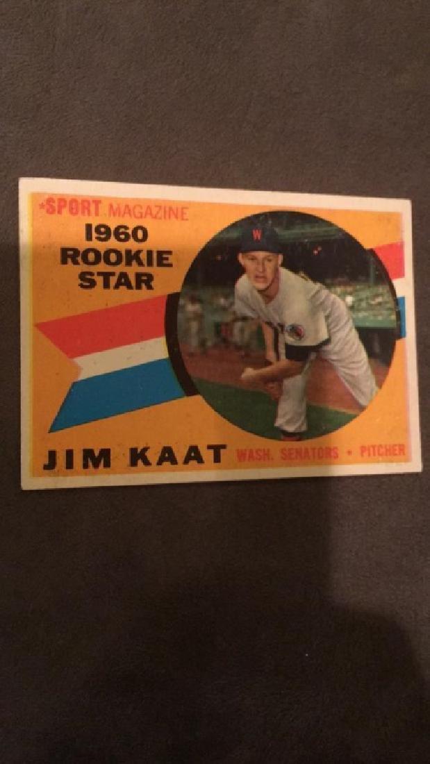 1960 Topps Jim Kaat RC - 2