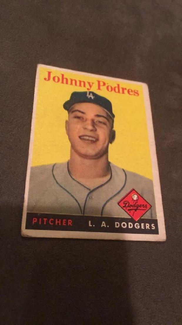 Johnny Podres 1958 Topps