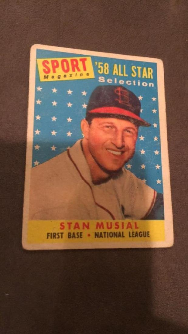 Stan Musial 1958 Topps all star