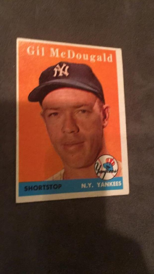 Gil Mcdougald 1958 Topps card