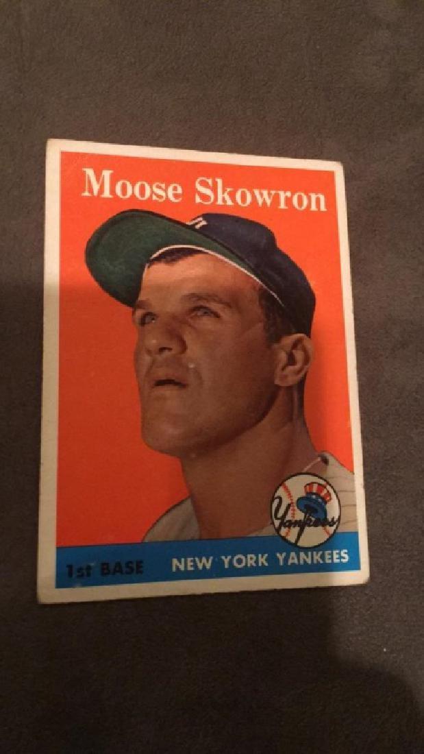 1958 Topps moose Skowron