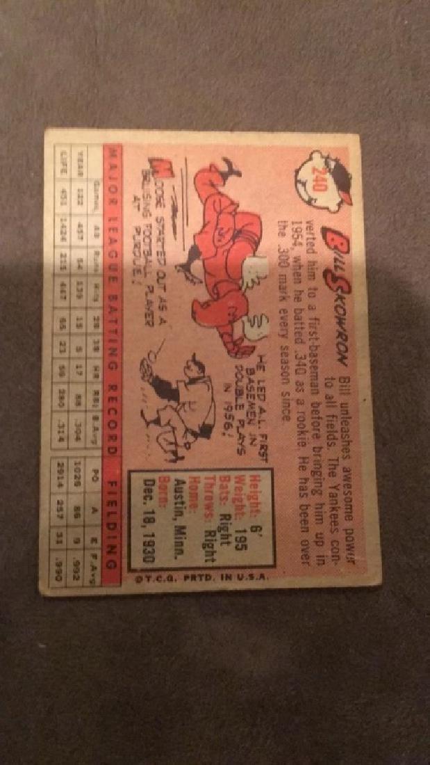 1958 Topps moose Skowron - 2
