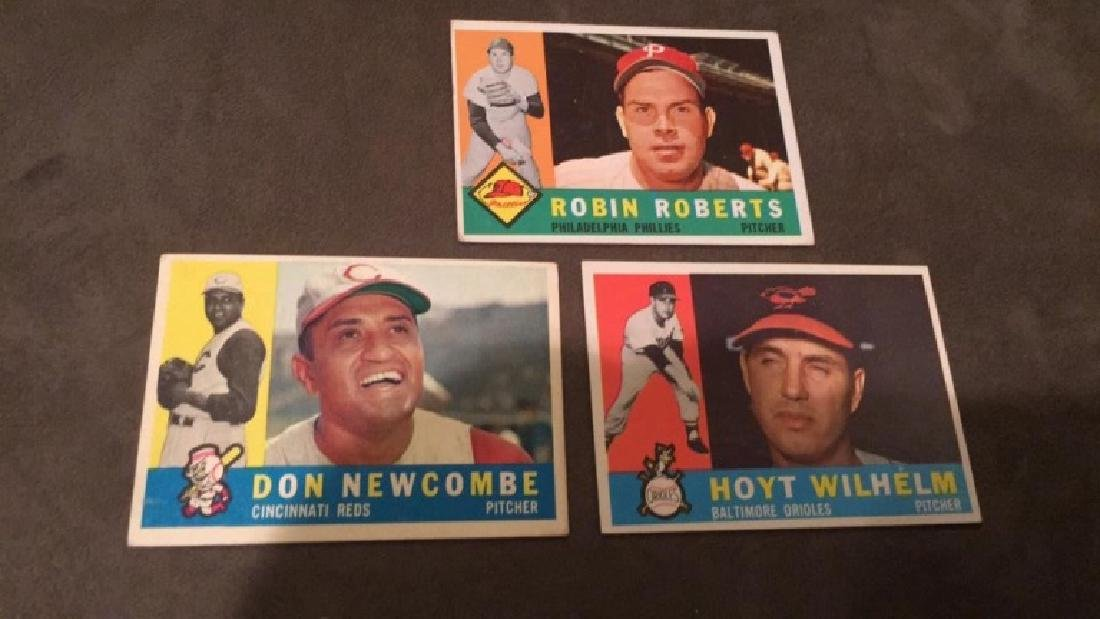 1960 Topps Hoyt Wilhelm Don Newcombe and Robin