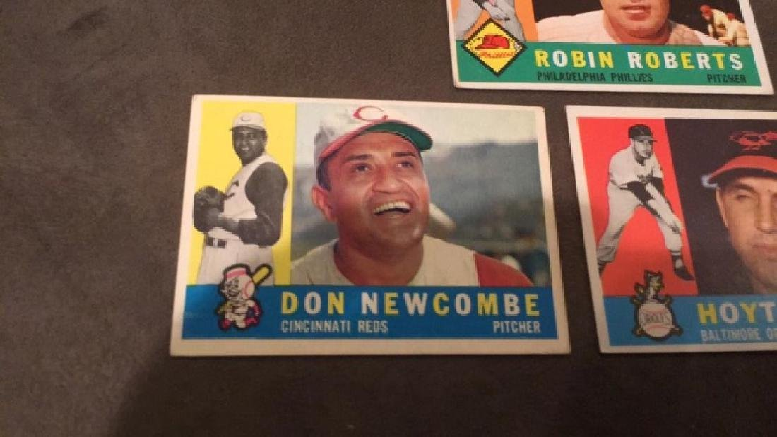 1960 Topps Hoyt Wilhelm Don Newcombe and Robin - 2