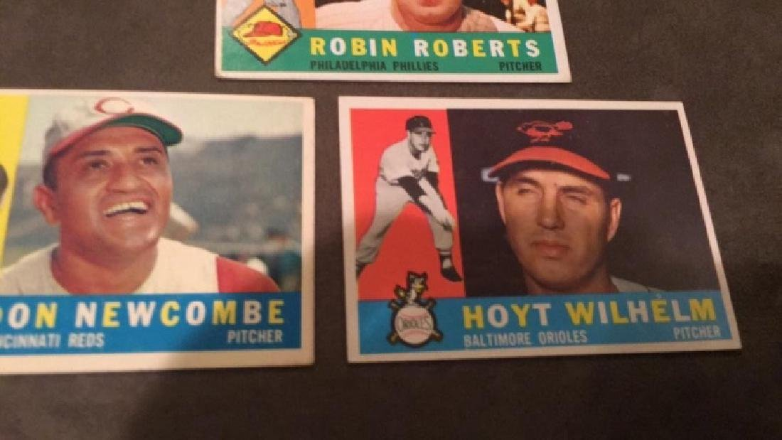 1960 Topps Hoyt Wilhelm Don Newcombe and Robin - 3
