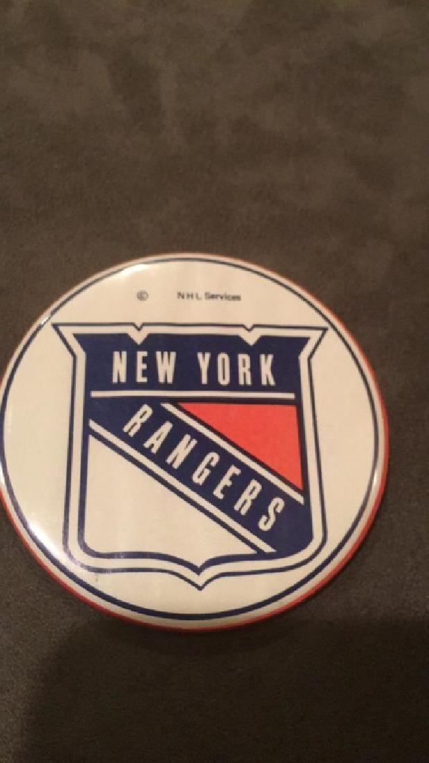 Vintage New York rangers button NHL