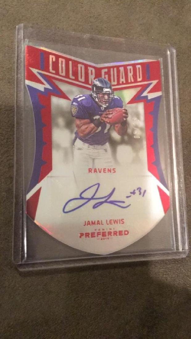 Jamal Lewis 2016 Panini preferred colorguard
